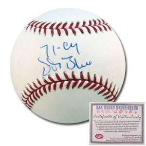 Signed Rawlings MLB Baseball with 71 Cy Inscription