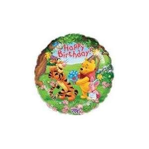 18 Winnie Pooh & Friends Tigger HBD   Mylar Balloon Foil