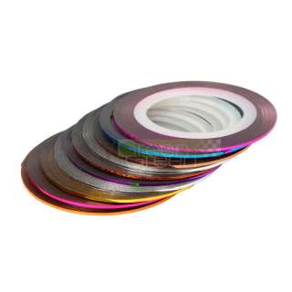 New 10 Color Striping Tape Line Nail Art Decoration Sticker
