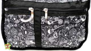 BEELUNA Sling Shoulder Bag Boombox Skulls Stars A4 NEW