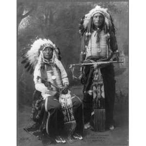 Horn,James Lone Elk,wearing headdresses and medals: Home & Kitchen