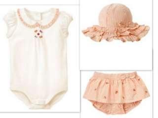 Gymboree Safari Poppy Baby Girl summer outfits Hat 3 6