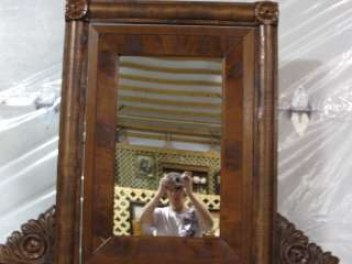 Antique Maple Empire High boy Chest With Mirror