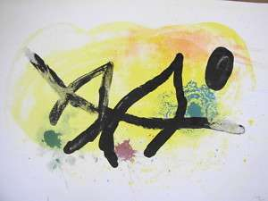 JOAN MIRO ORIGINAL COLOR LITHOGRAPH 71/100 SIGNED 1961
