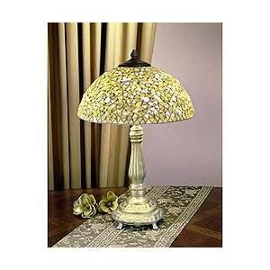 Dale Tiffany Clear Mosaic Table Lamp   High Quality Hand Crafted Fine