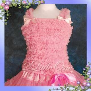 Girl Pink/Black Ruffles Tank Pettitop Party Top Sz 2T 7