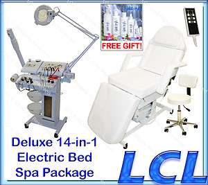 14 in 1 FACIAL MACHINE MICRODERMABRASION ELECTRIC MASSAGE TABLE SALON