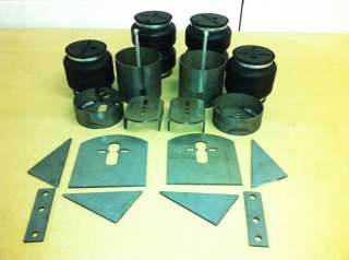 Lincoln Continental Front & Rear Brackets + Bags Air Ride Suspension