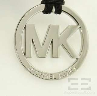 Michael Michael Kors Black Suede & Patent Snake Print ID Chain Tote