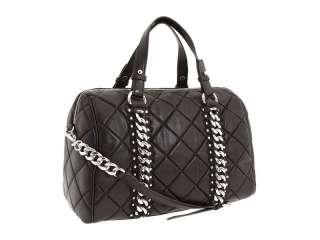 New MICHAEL KORS Quilted Studded ID Satchel Handbag Bag Medium Black