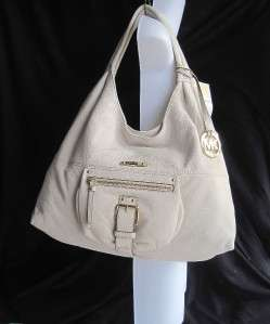 New MICHAEL KORS Austin Vanilla Ivory Leather Hobo Tote Bag L $298