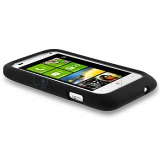 FOR HTC RADAR 4G T MOBILE BLACK SILICONE SOFT GEL COVER CASE PHONE