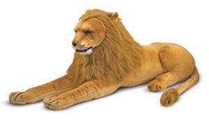 Melissa and & Doug Plush Animal Stuffed Lion   New