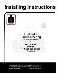FARMALL Hydraulic Power Steering 460 560 Install Manual