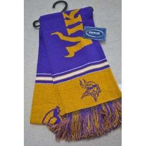 Minnesota Vikings NFL Stadium two sided Team logo Scarf