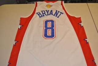 authentic sewn kobe bryant all star jersey medium los angeles lakers