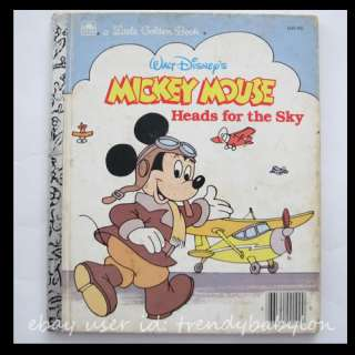 Little Golden Book Walt Disney Mickey Mouse Heads for the Sky