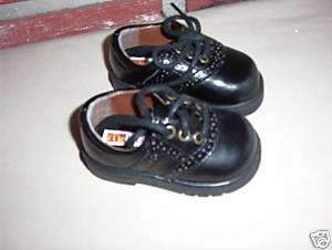 NIB McKIDS TODDLER BOY BLACK LACE DRESS SHOE SIZE 3