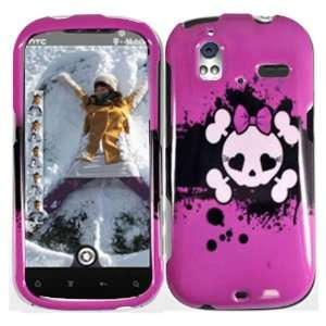 Pink Skull Hard Case Cover for HTC Amaze 4G Cell Phones & Accessories