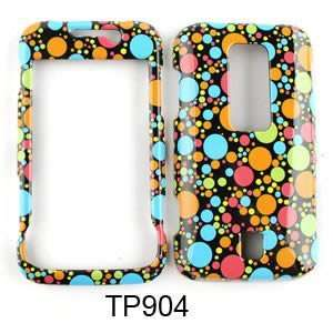 CELL PHONE CASE COVER FOR HUAWEI ASCEND M860 DOTS ON BLACK