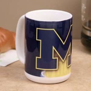 NCAA Michigan Wolverines 15 oz. Coffee Mug: Kitchen