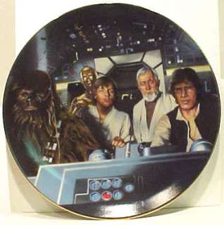 Star Wars Crew in Cockpit Ltd. Num. China Plate, 1986