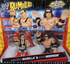 SANTINO MARELLA & JOHN MORRISON   WWE RUMBLERS TOY WRESTLING ACTION