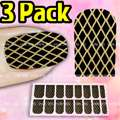 3x Pack/16pcs Nail Art Toe Foils Sticker Wrap Skull N06