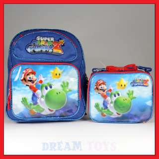 14 Super Mario Bros Yoshi Backpack and Lunch Bag Set