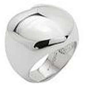 GOLDMAN Mens 14k White Gold Cross Wedding Ring (8.00 mm