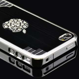 IPhone 4 4S High Quality Luxury Bling Designer Stone Case Dark Gun