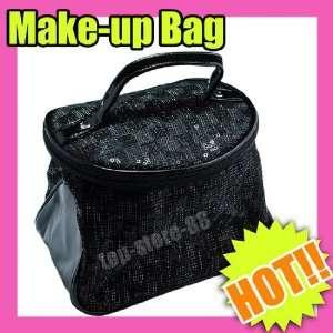 art Makeup Cosmetic girls purse Bag set Black 196