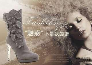 Elegant Luxury Womens Stiletto Platform High Heel Shoes Knee high