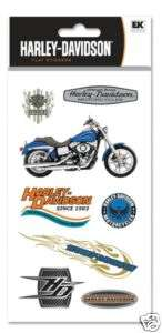 Harley Davidson Motorcycle Dyna Low Rider Logo Stickers