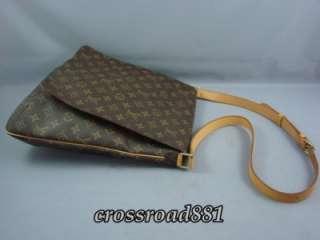 Authentic Louis Vuitton Monogram Large Musette Messenger Bag Great