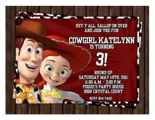 10 Toy Story Woody Jessie Personalized Invitations #5