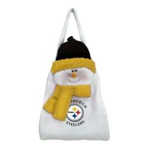 NFL Pittsburgh Steelers Snowman Door Sack 21 1/2 Sports