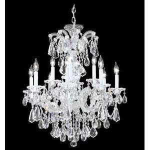 Maria Theresa Royal Collection Gold Lustre Finish 12 Light Chandelier