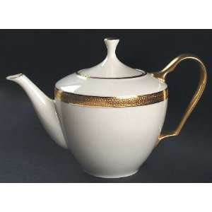 Lenox China Lowell (Gold Backstamp) Tea Pot & Lid, Fine