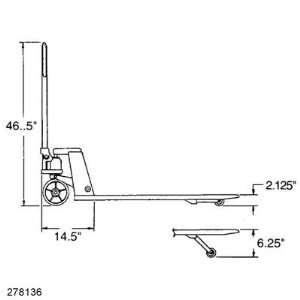 Low Profile Pallet Jack CPII 21 x42 4,400lb Cap