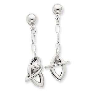 14k White Gold Dangle Earrings West Coast Jewelry