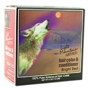 Light Mountain Natural Hair Color and Conditioner Kit Bright Red 4 oz