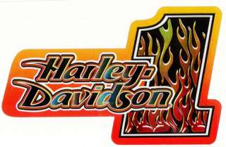 Harley Davidson Motorcycle Flames Logo Decal Stickers