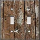 Light Switch Plate Cover   Wall Decor   Rustic   Image Brown Wood