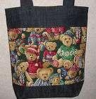 NEW Handmade Medium Teddy Bears in Sweaters Tote Bag