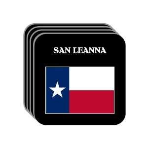 US State Flag   SAN LEANNA, Texas (TX) Set of 4 Mini Mousepad Coasters