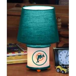 MIAMI DOLPHINS Team Logo 12 Tall DUAL LIT ACCENT LAMP / NIGHT LIGHT