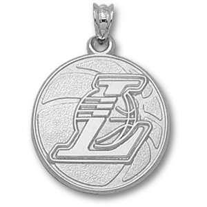 Los Angeles Lakers NBA Basketball 3/4 Pendant (Silver