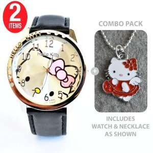 Hello Kitty Classic Ladies Quartz Watch Black with Hello Kitty Out in