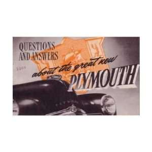 1949 PLYMOUTH Question Answer Sales Brochure Book Automotive